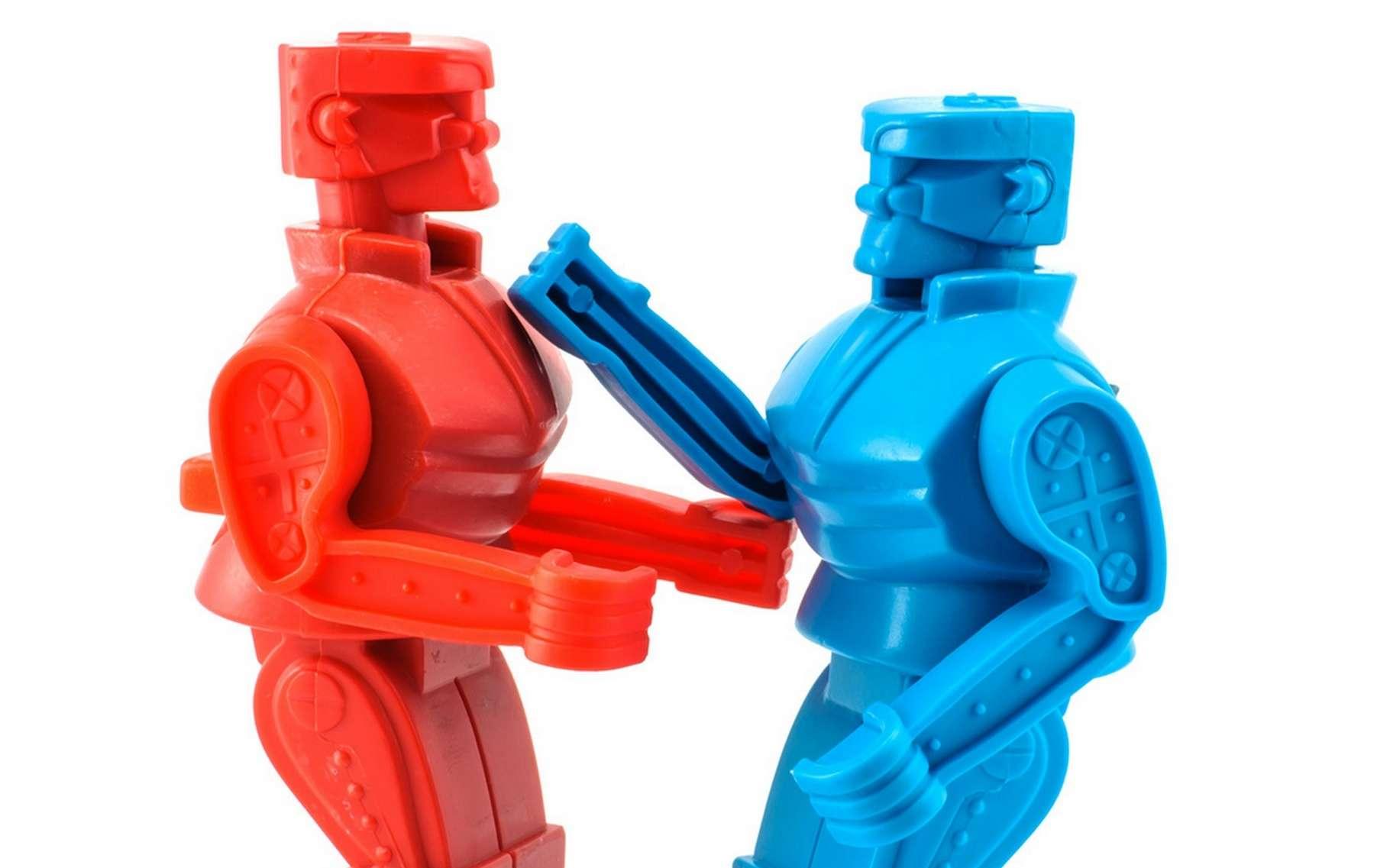 Des humanoïdes se sont affrontés, programmés par des humains mais sans leur aide au moment du combat... © Nicescene, Fotolia