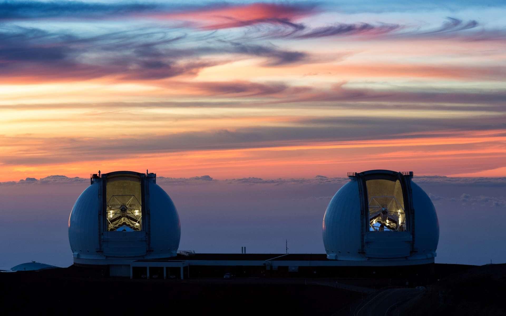Vue du W.M. Keck Observatory au sommet du Mauna Kea à Hawaï. © 2021 W. M. Keck Observatory