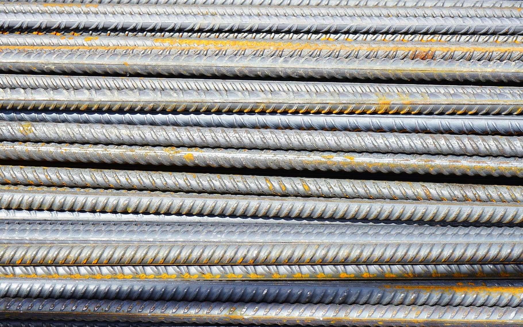 Des tiges d'acier peuvent servir à armer du béton. © Hans, Pixabay, DP