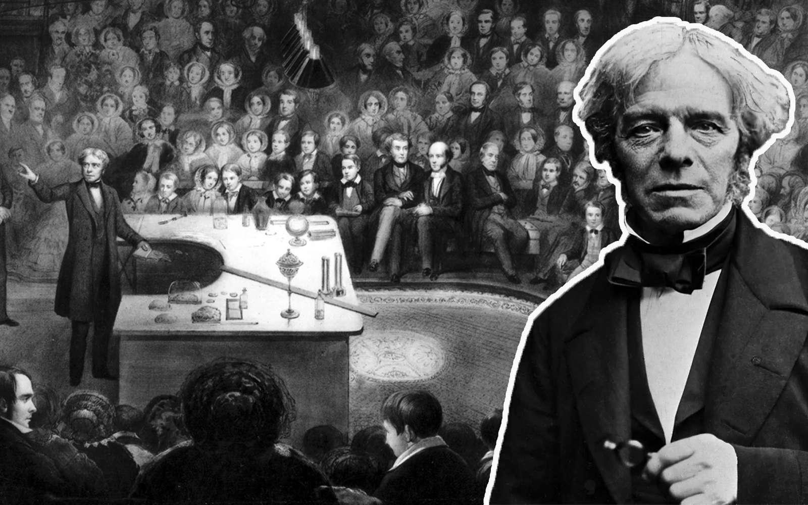 « Michael Faraday et les spectaculaires conférences de Noël » est le treizième épisode inédit de Chasseurs de Science. © John Watkins, Alexander Blaikley
