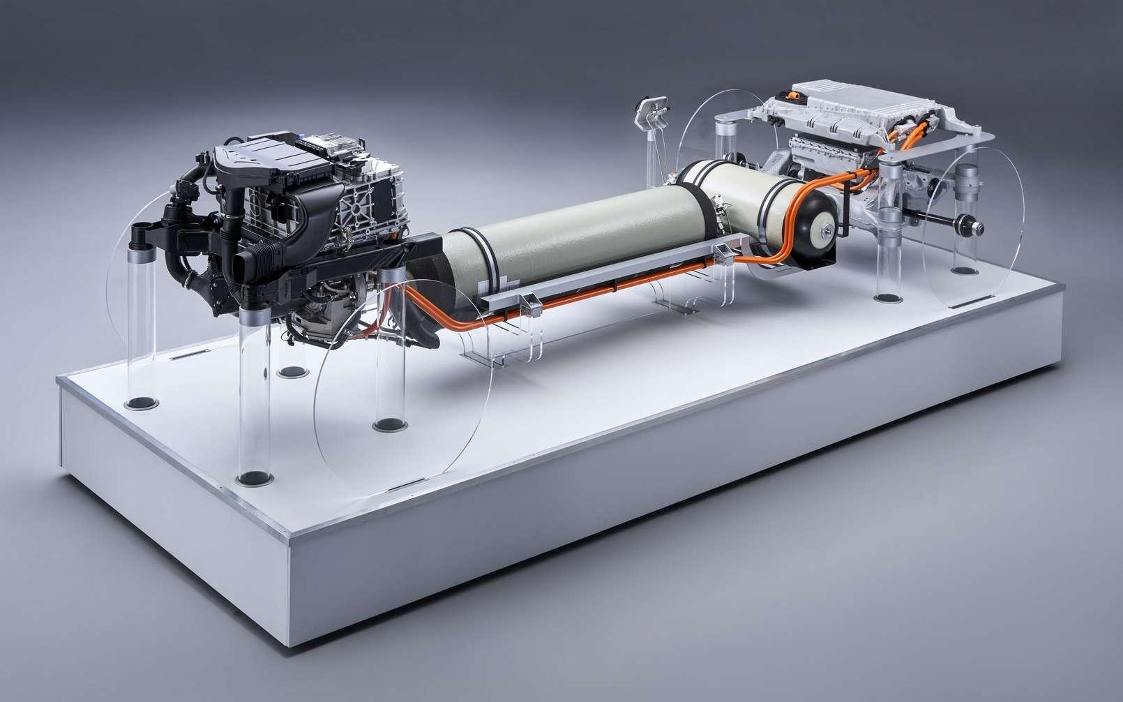 Le groupe motopropulseur BMW i Hydrogen NEXT. © BMW