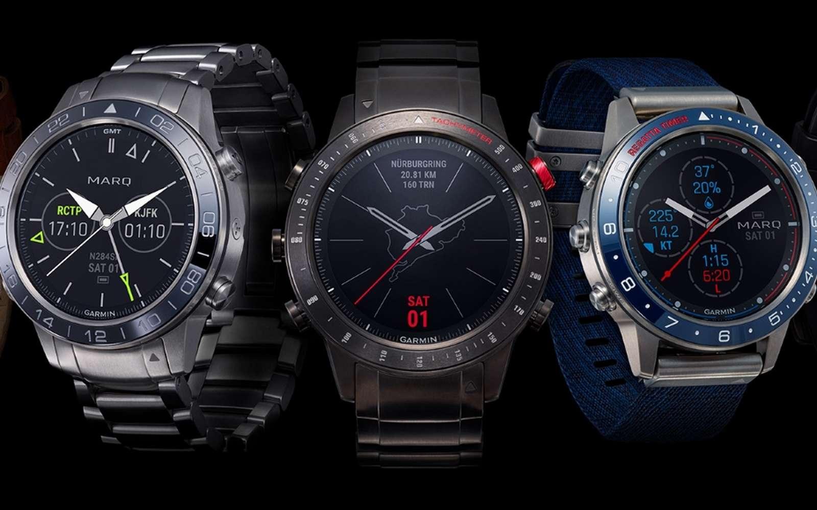 Avec sa gamme Marq, Garmin mise sur le segment du luxe où les smartwatchs ont du mal à faire leur nid. La marque compte sur sa réputation de fiabilité pour promouvoir des modèles coûteux. © Garmin