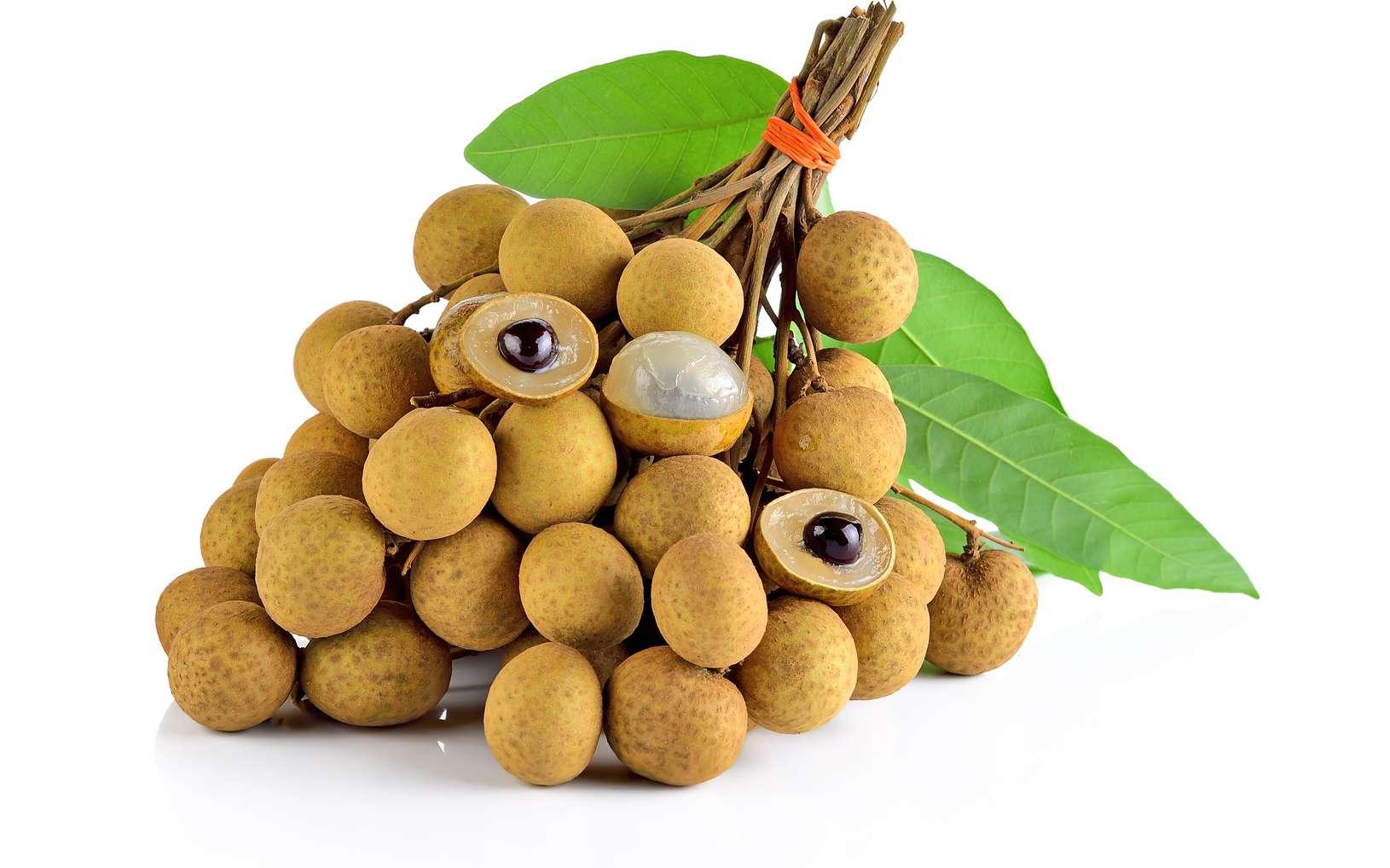 Le longane est un fruit particulièrement riche en vitamine C et en sucre (13 g pour 100 g). © nakornchaiyajina, Fotolia