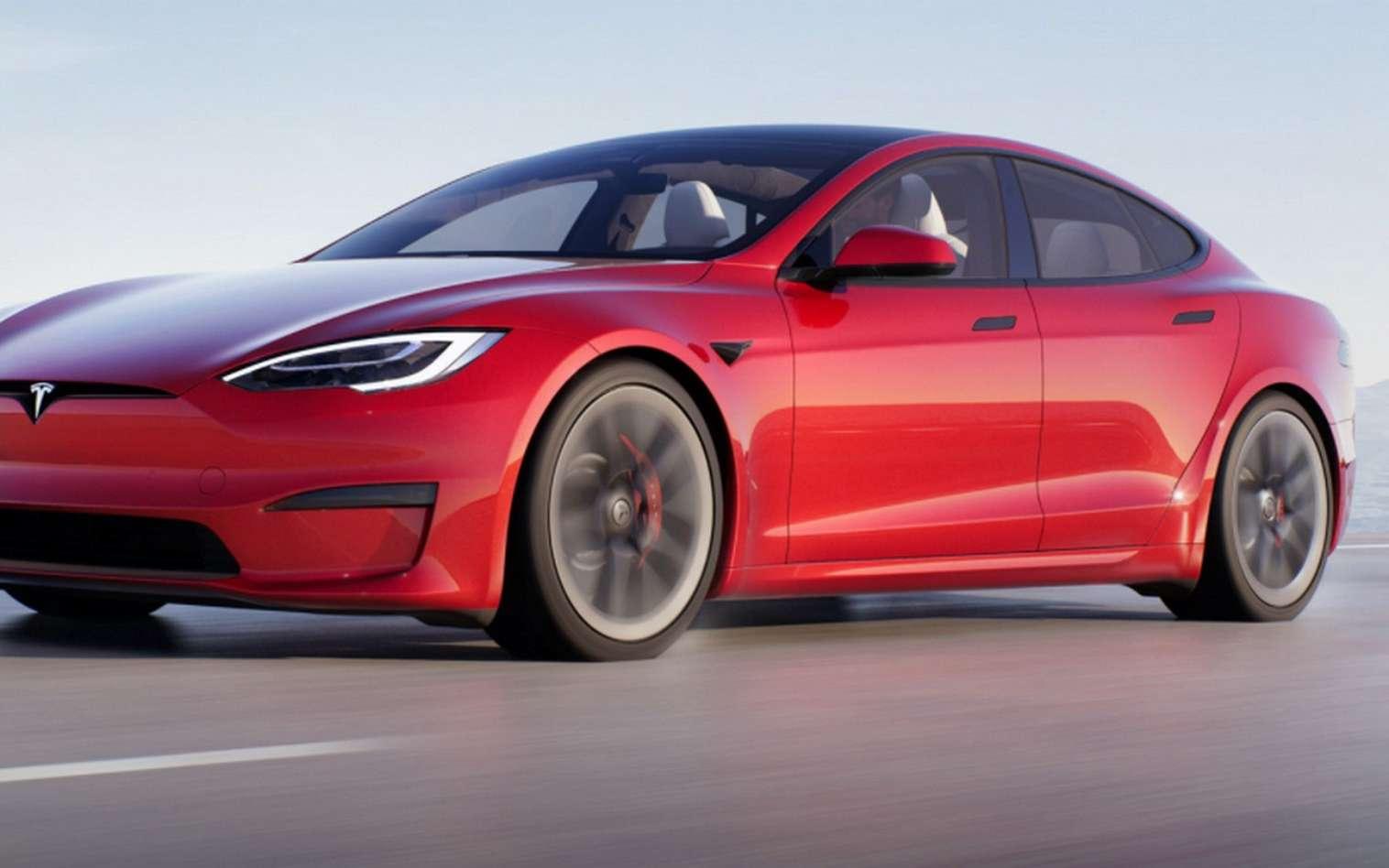 La carrosserie de la Tesla Model S 2021 a évolué par petites touches. © Tesla