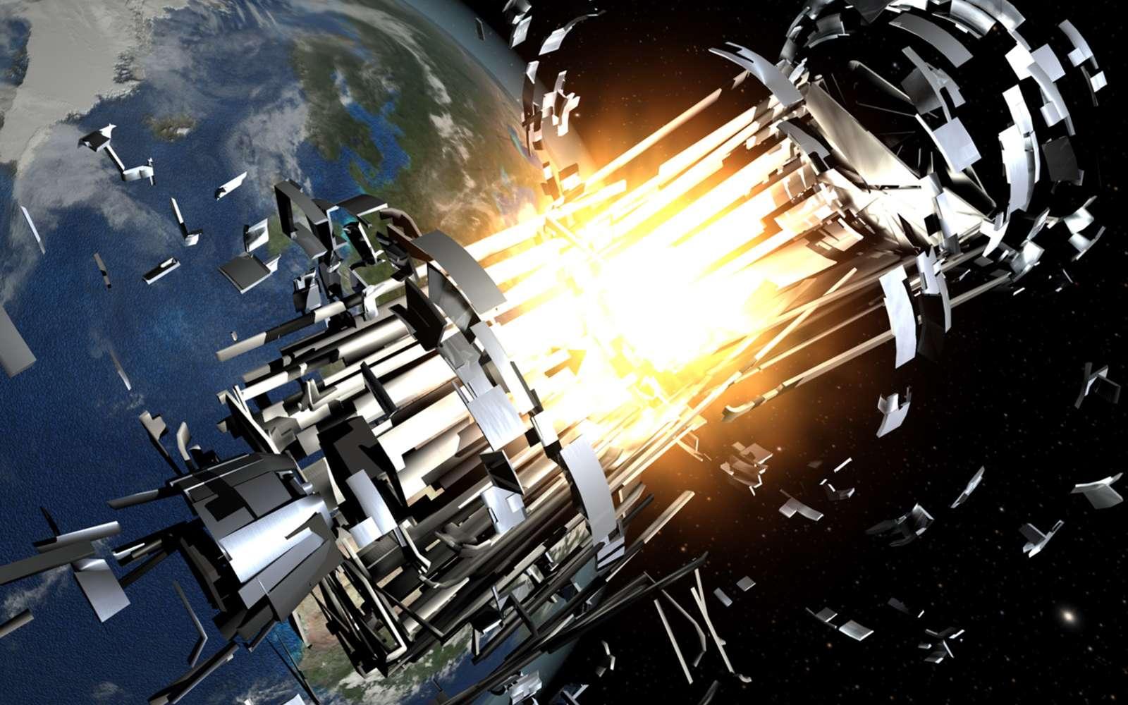 Un satellite de l'US Air Force, a explosé, laissant à la place un nuage d'une cinquantaine de débris. © USAF