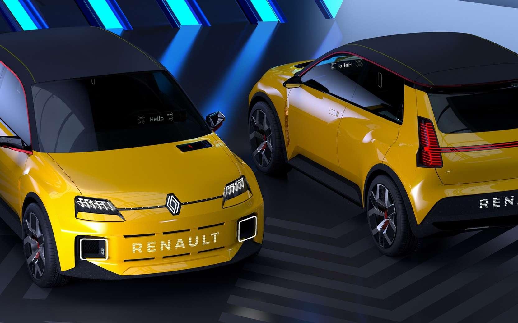 La Renault 5 Prototype reprend des codes très identifiables de la R5 des années 1970. © Renault