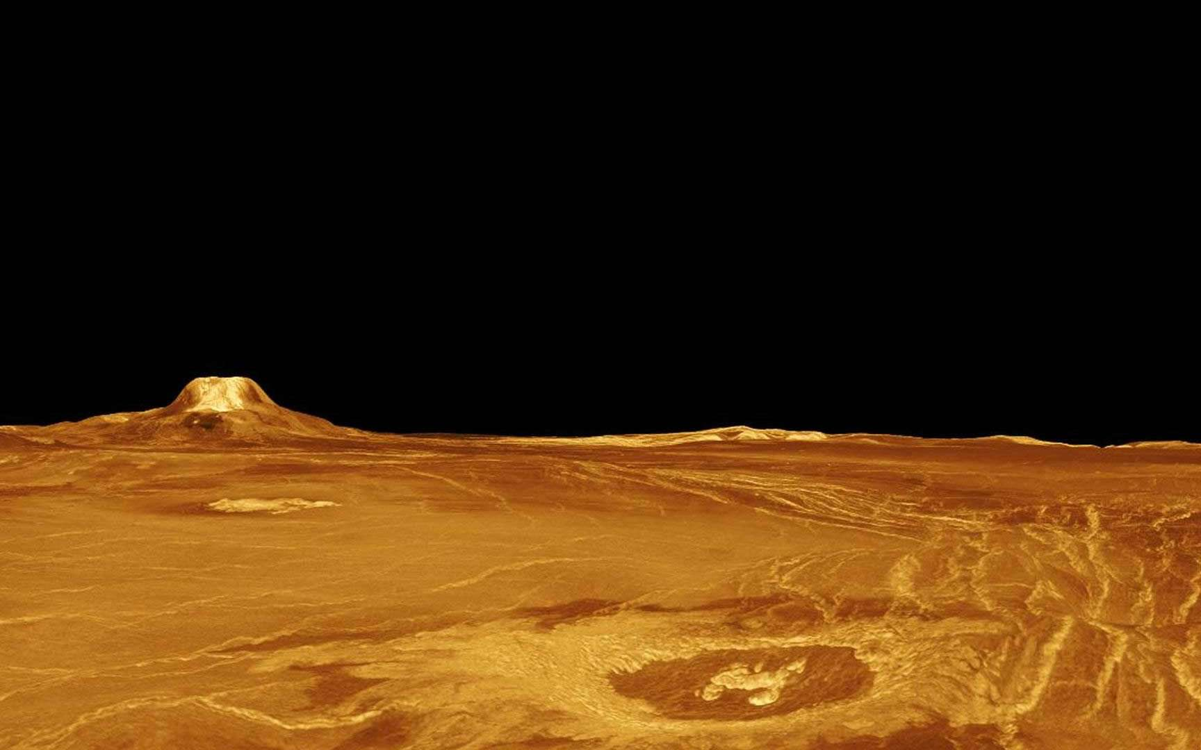 Les ordinateurs seront-ils bientôt capables de survivre aux conditions extrêmes de Vénus ? Ici, des images de la surface de cette planète reconstituées à l'ordinateur à partir des données radar de la sonde Magellan. © Nasa