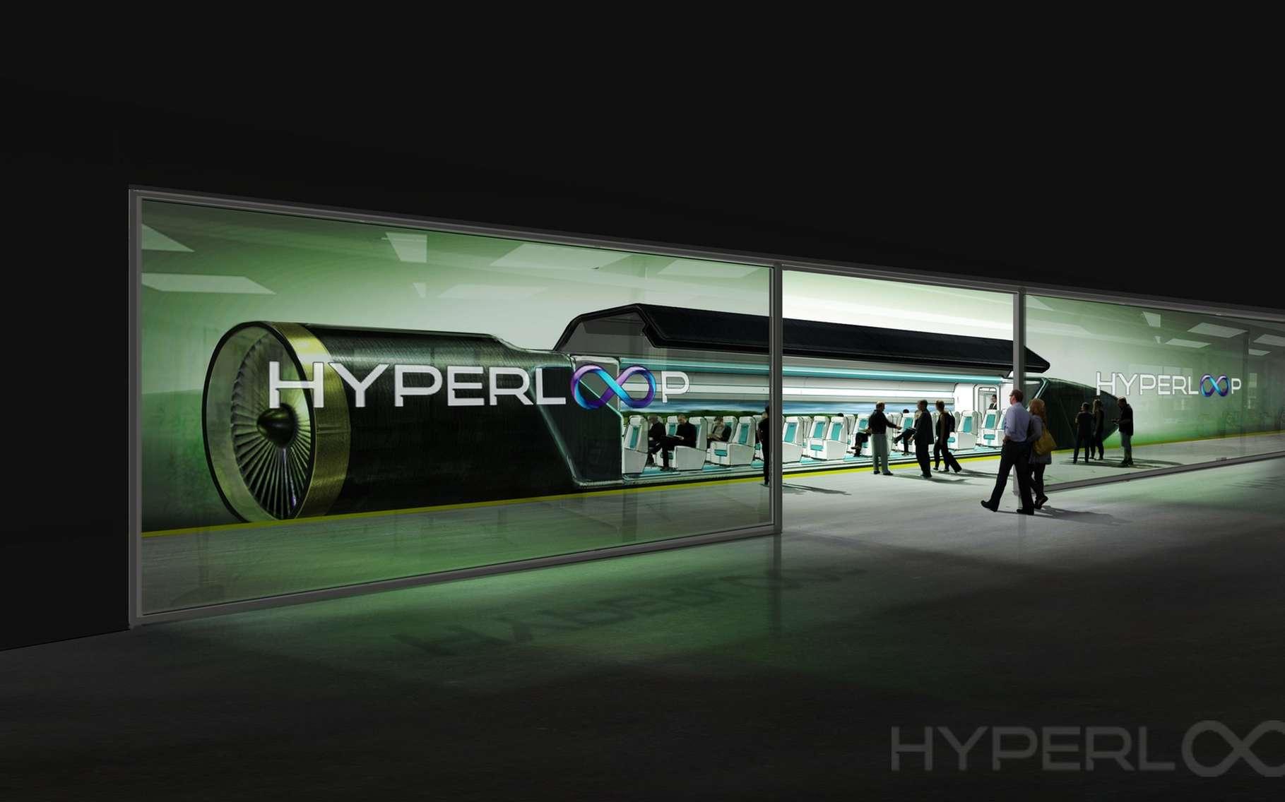 Plusieurs entreprises et universités travaillent en parallèle sur le projet de train subsonique Hyperloop qui transporterait des passagers et du fret à des vitesses pouvant atteindre les 1.200 km/h. © Hyperloop One