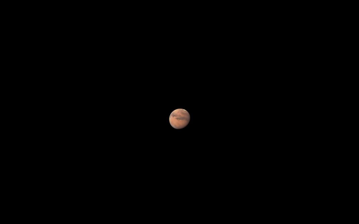 Superbe photo prise à la fin de l'occultation de Mars par la Lune, le 6 septembre dernier. © David Duarte, Romualdo Caldas, Apod (Nasa)