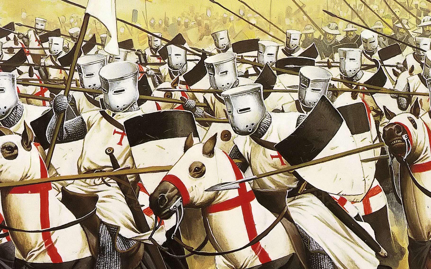 Les templiers en ordre de bataille. © DP