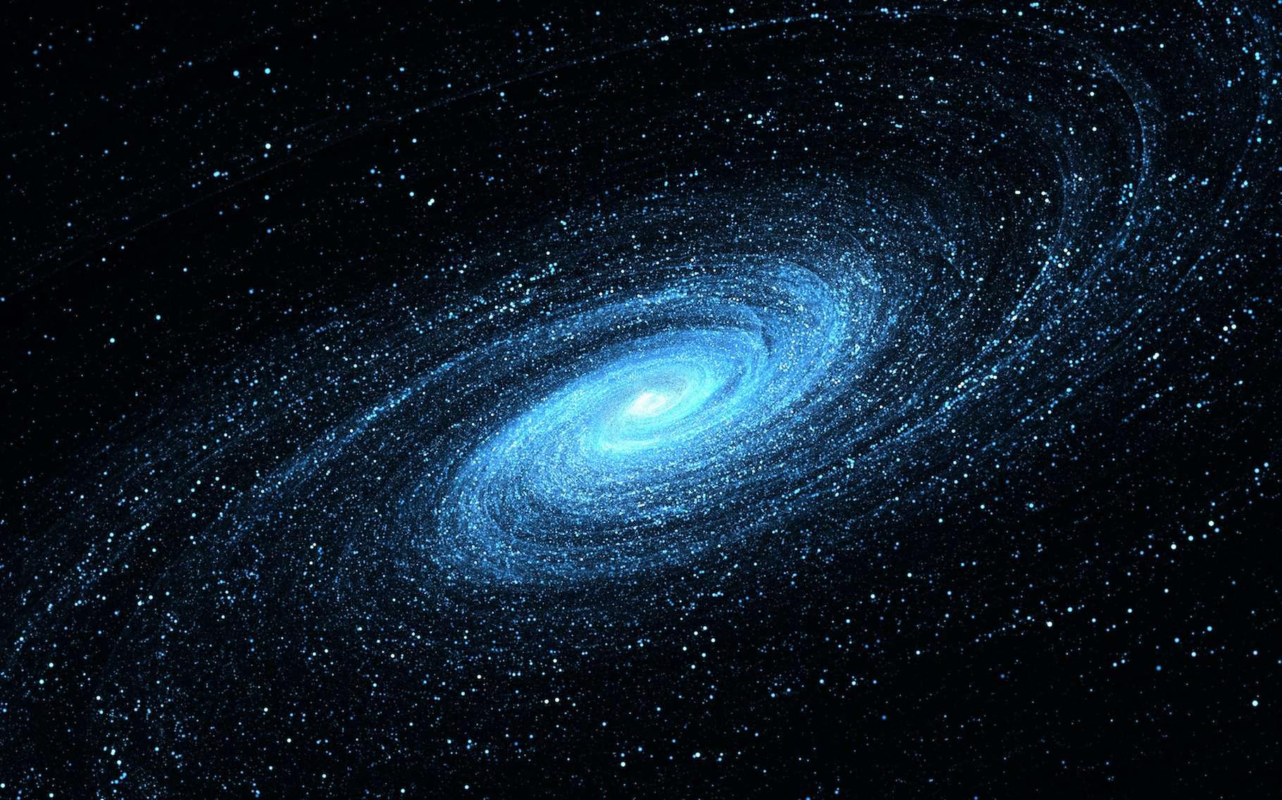 Des chercheurs de l'université de Lund (Suède) montrent comment des collisions de galaxies peuvent mener à structurer une galaxie spirale telle que la Voie lactée. © Peter Jurik, Adobe Stock