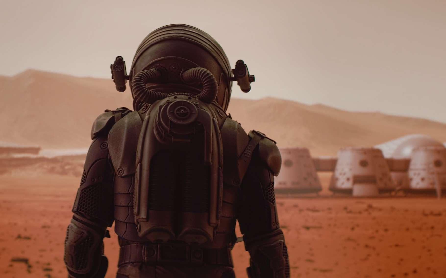 Des chercheurs de l'université de Manchester (Royaume-Uni) proposent une solution pour fabriquer des matériaux de construction sur Mars : utiliser le sang des astronautes. © daniilvolkov, Adobe Stock