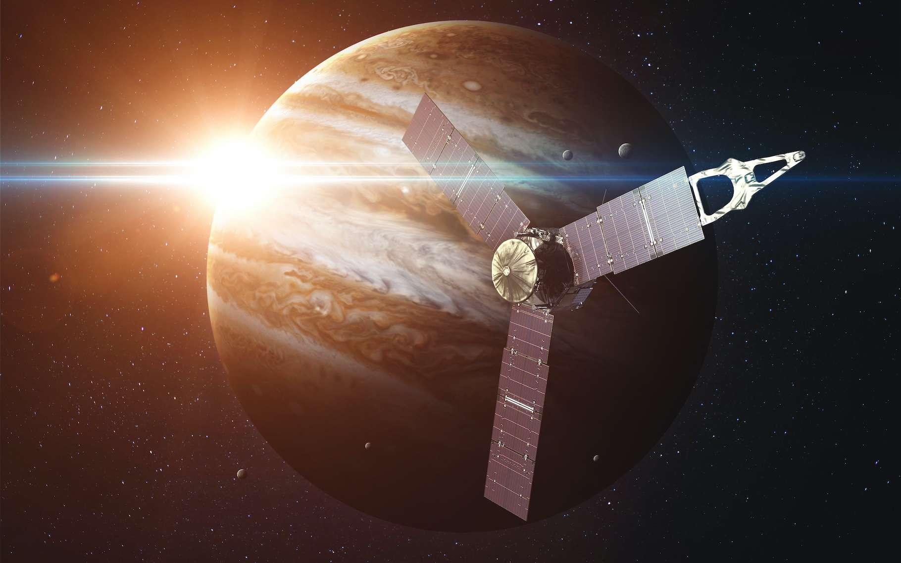 Un an après en avoir renvoyé de premières images, la mission Juno montre aujourd'hui un Clyde Spot à la structure étonnamment complexe. © Vadimsadovski, Adobe Stock