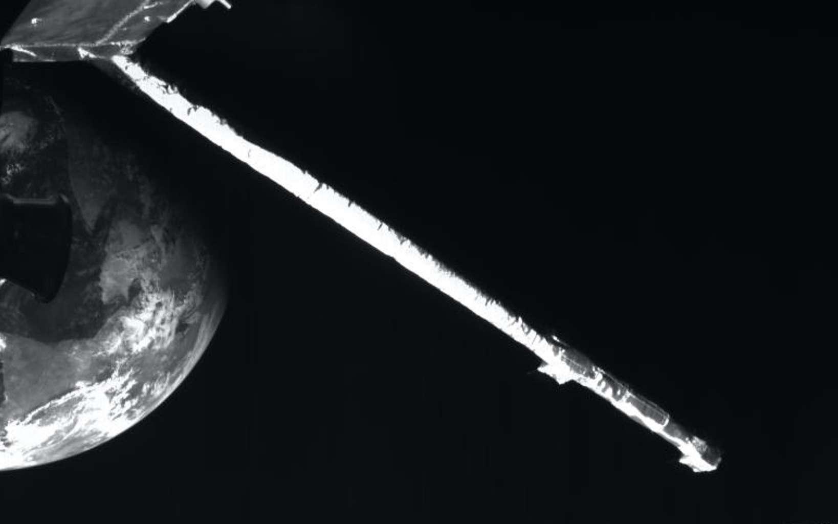 Photo prise par Bepi Colombo lors de son survol de la Terre, le 10 avril 2020. © ESA, BepiColombo, MTM, CC by-sa 3.0 IGO