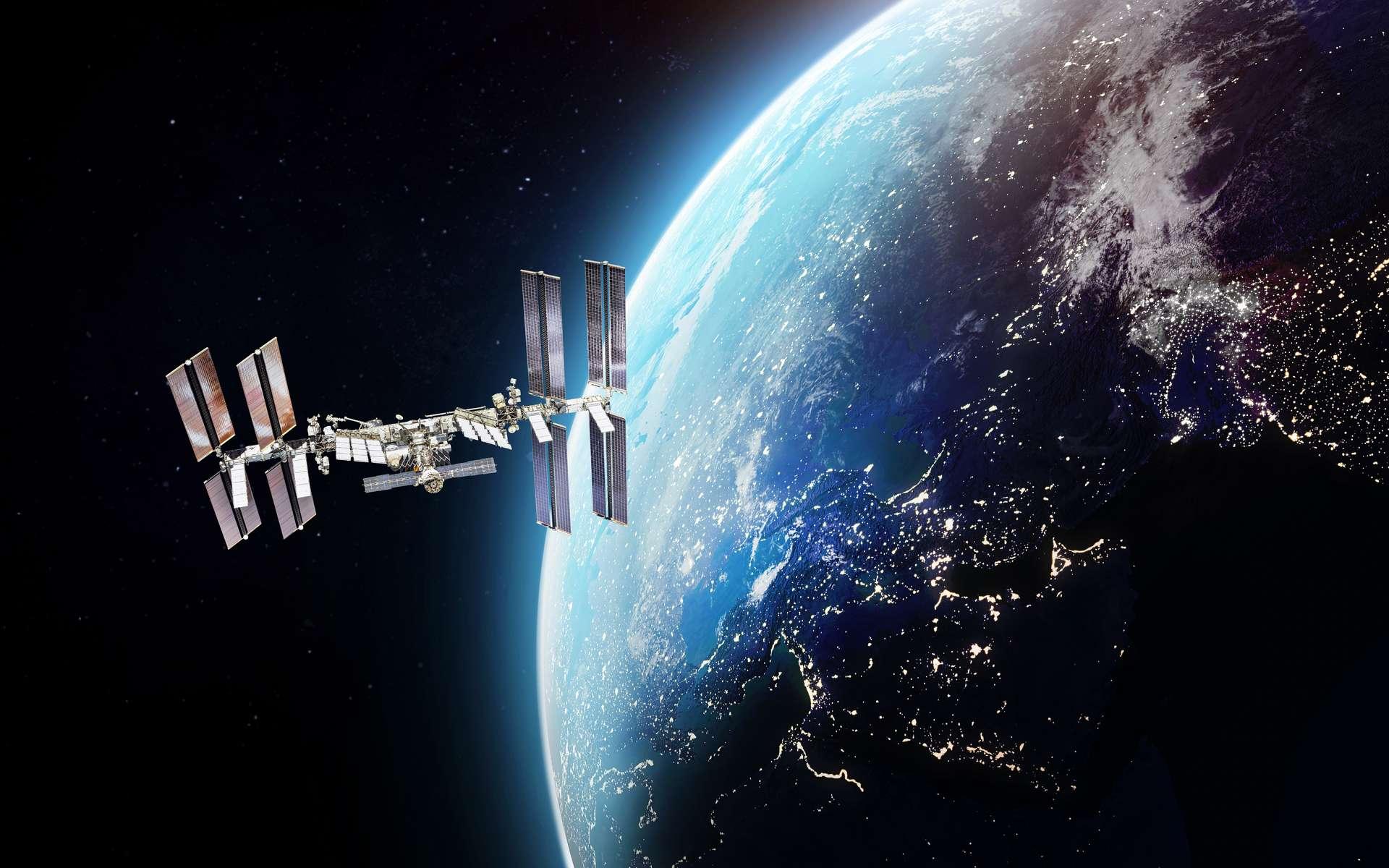 Pour la toute première fois, un studio filme en 3D à 360 degrés autour de la Station spatiale internationale. © dimazel, AdobeStock