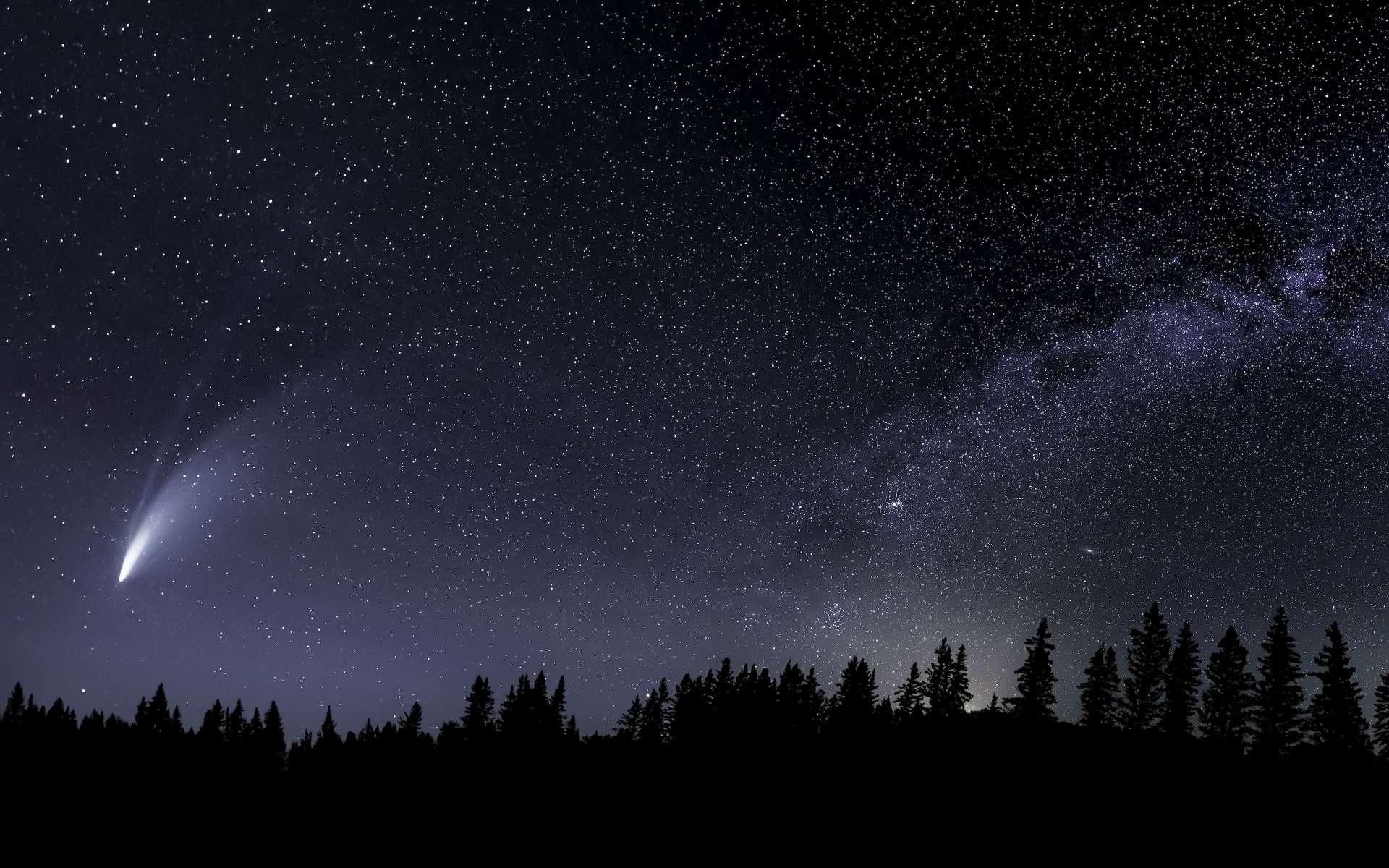 Une comète d'aspect semblable à celui de la comète interstellaire 2I/Borisov. © Craig Taylor Photo, Adobe Photo