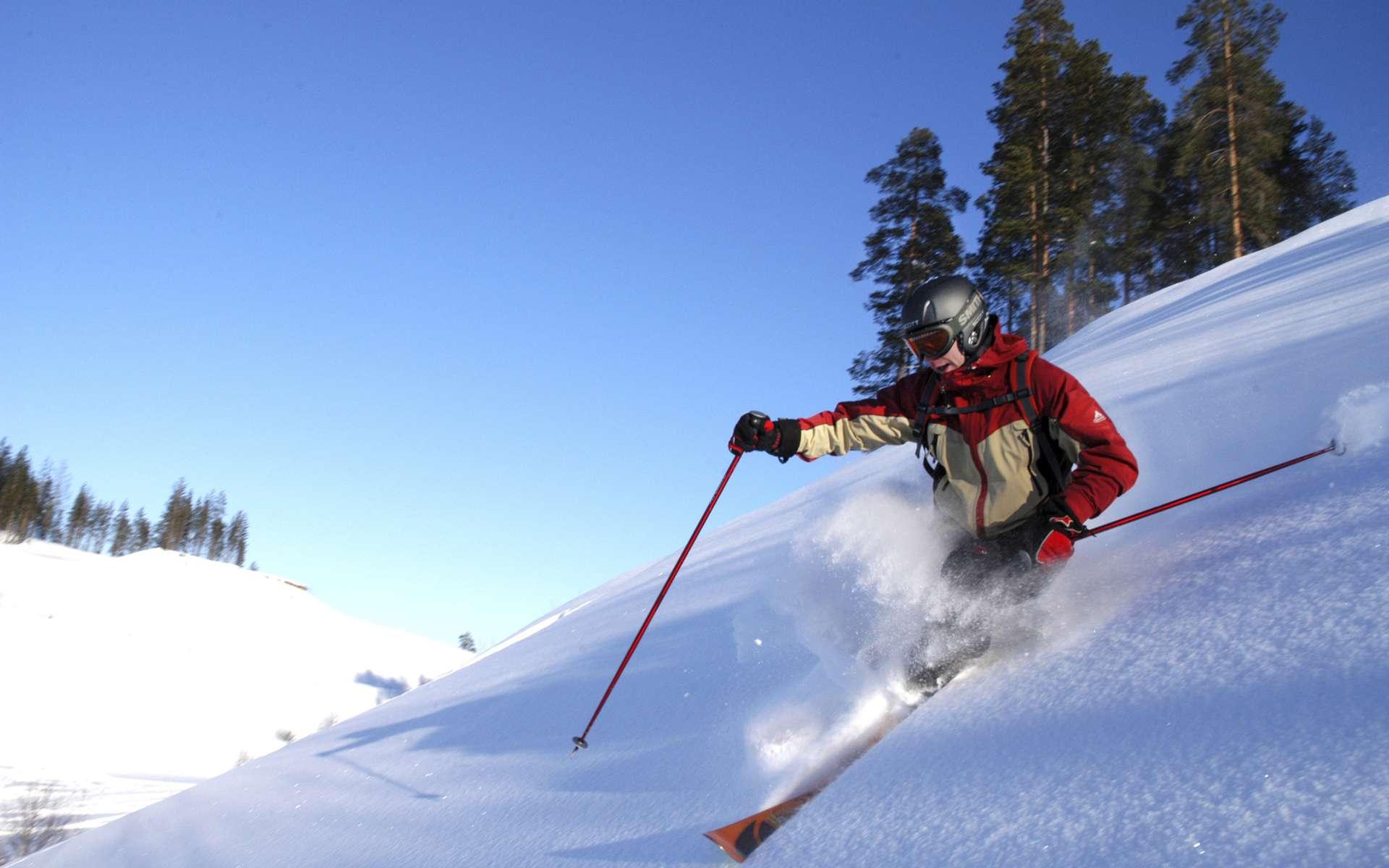Les skis profitent des performances des matériaux composites à matrice organique. © Visit Finland, Flickr, CC by-nc 2.0