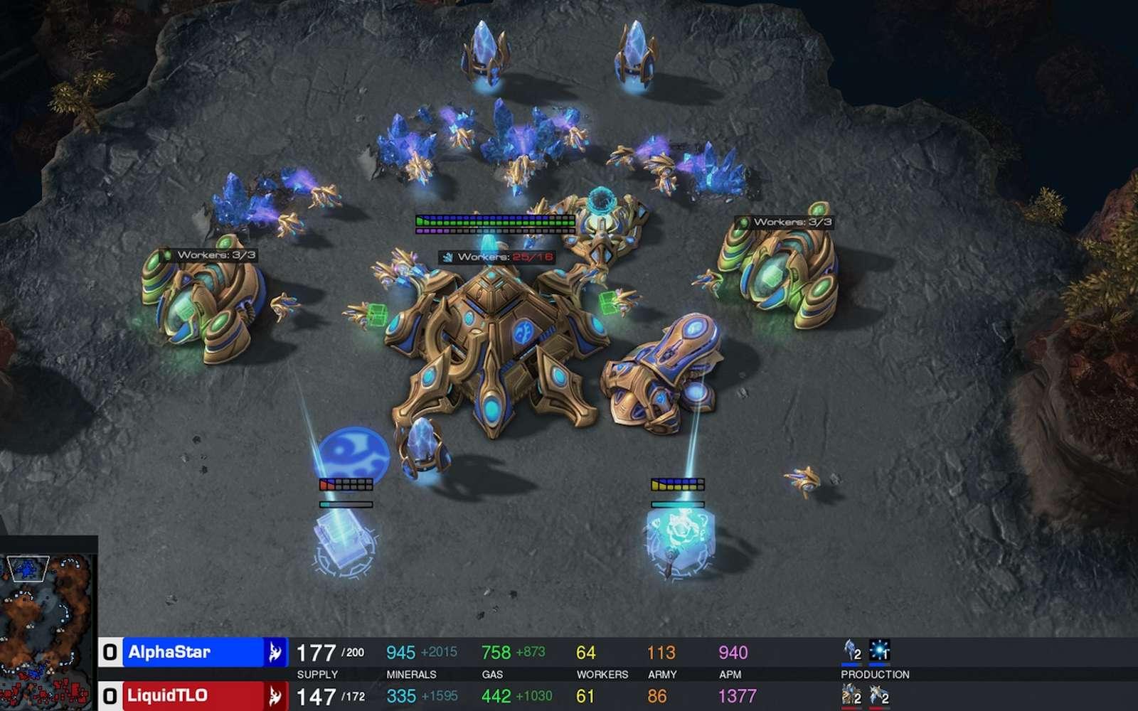 L'éditeur du jeu vidéo Starcraft II collabore avec DeepMind (filiale d'Alphabet-Google Inc.) pour créer des outils à même de faire progresser des IA. © Blizzard Entertainment