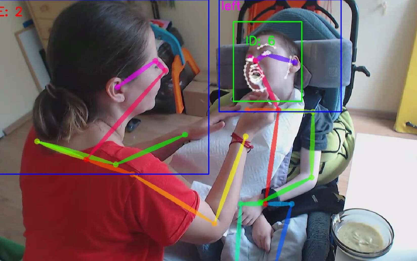 Le logiciel est doté d'un système de reconnaissance visuelle qui permet d'identifier et d'interpréter les subtiles expressions de son utilisateur. © Insension