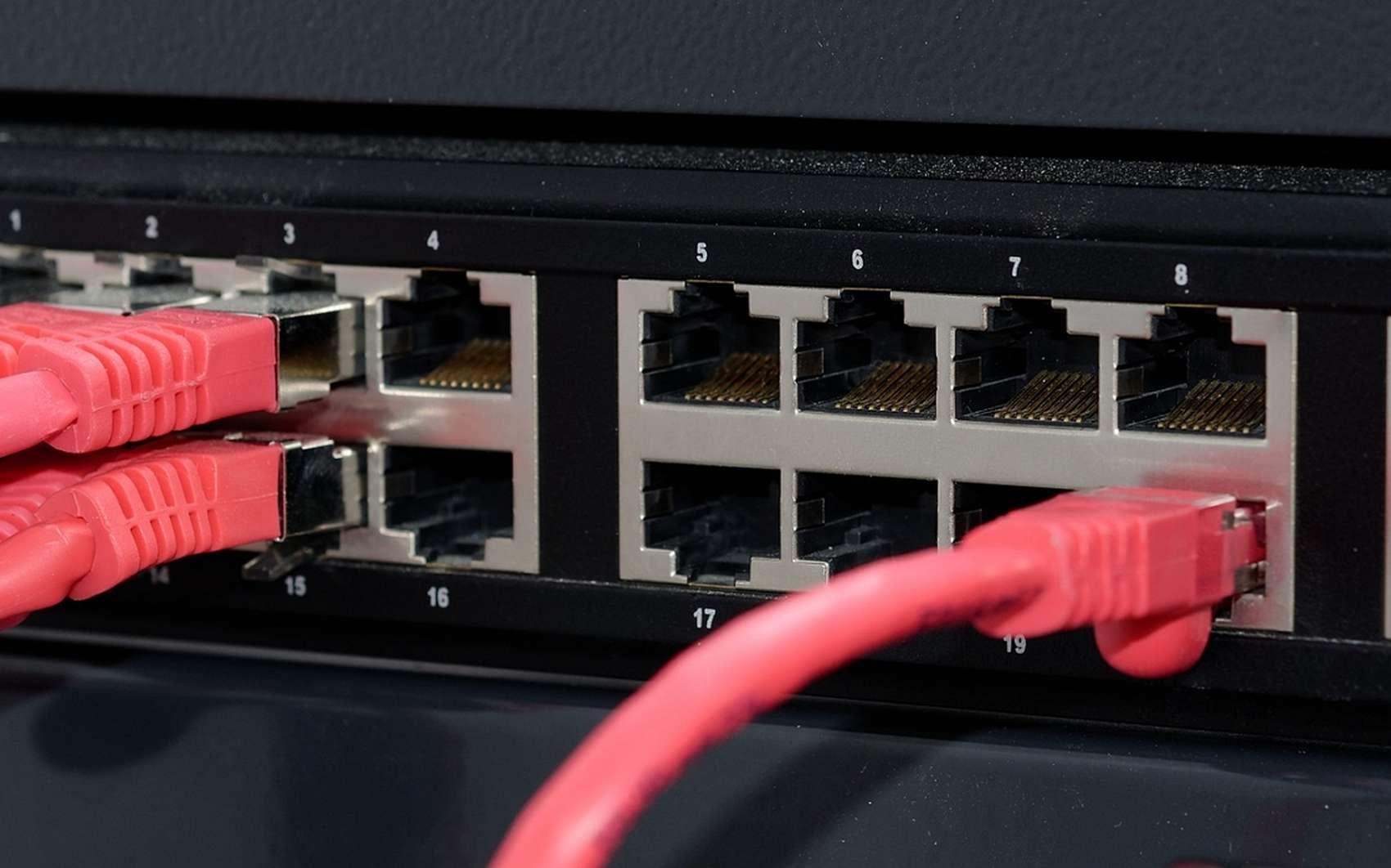Un switch réseau dispose de nombreux ports RJ45. © Pixabay.com