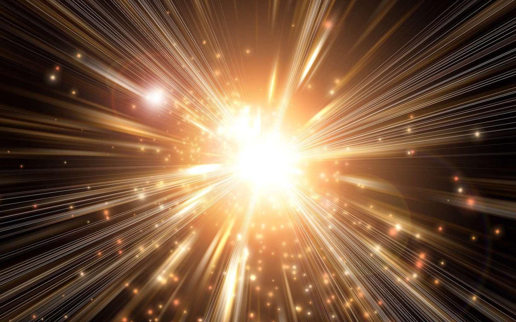 Une vue d'artiste du Big Bang, bien que celui-ci ne soit en rien comparable à une explosion sous tous les aspects possibles. © Santa Pa design, Fotolia
