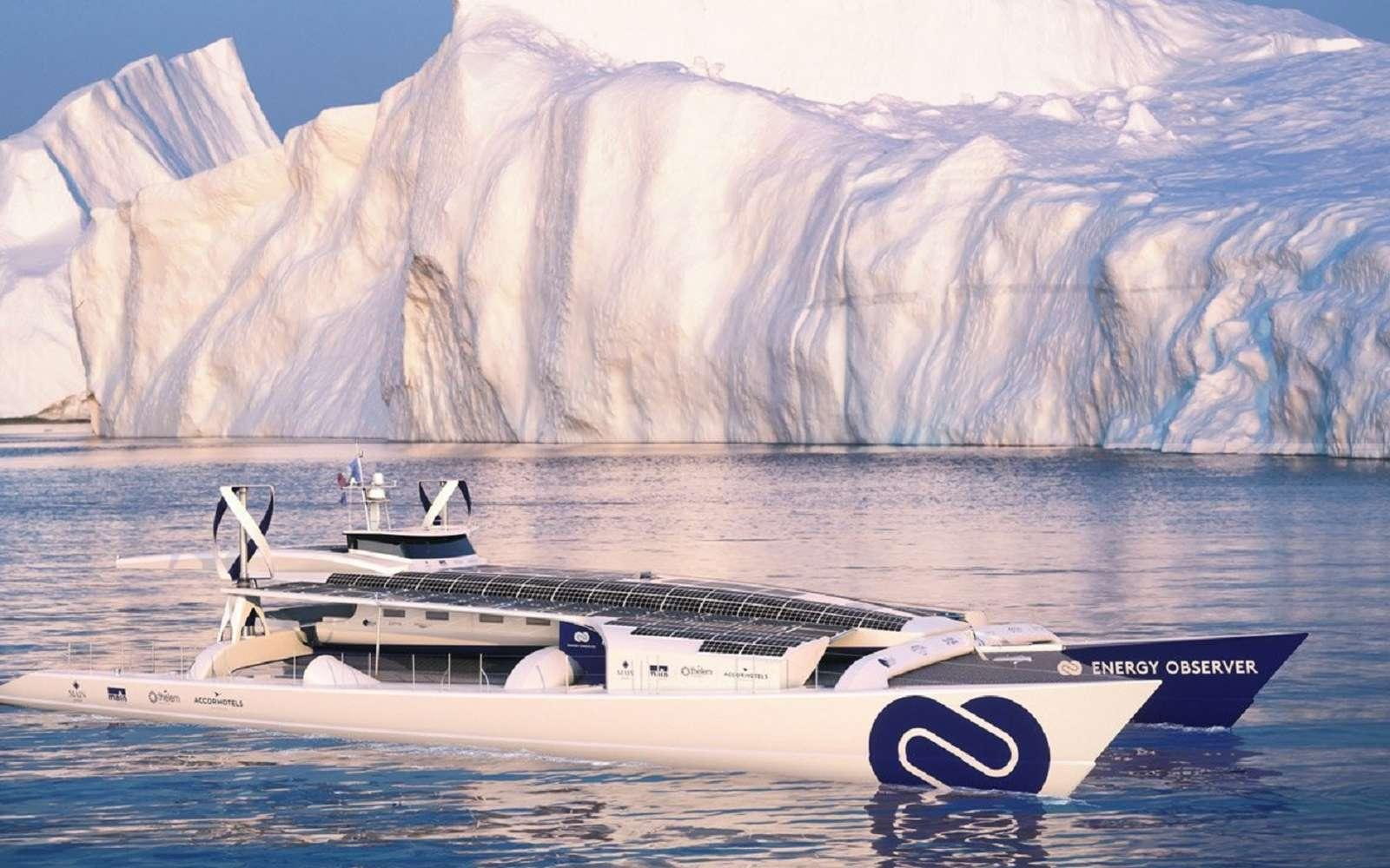 Le laboratoire flottant Energy Observer a rejoint le 10 août 2019 l'archipel du Svalbard, épicentre du changement climatique. © Energy Observer