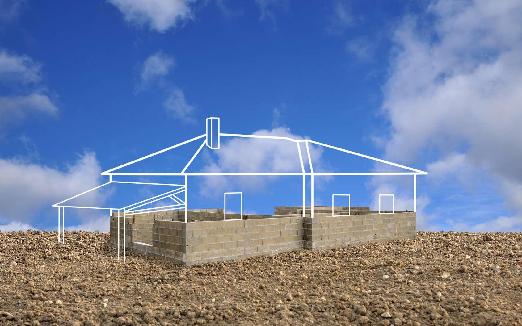 La préparation du terrain de construction doit se faire en pensant aux futurs aménagements. © thieury, fotolia