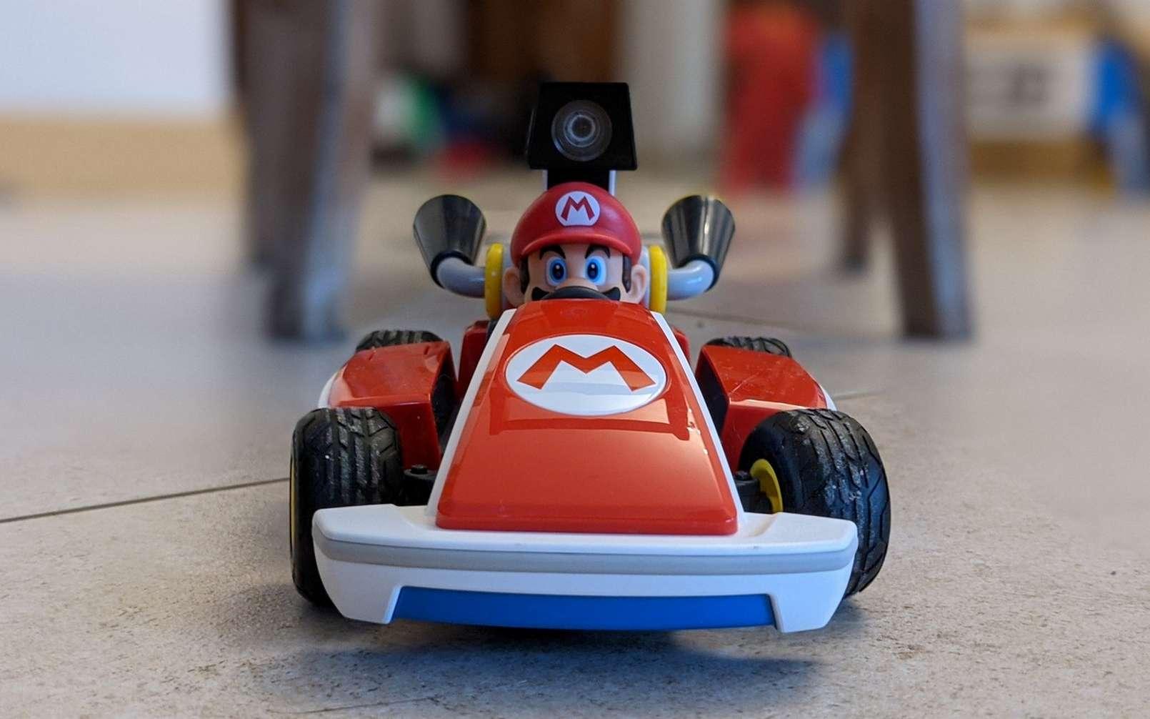 Mario Kart Live Home Circuit est disponible en version Mario ou Luigi pour 100 euros. © Marc Zaffagni