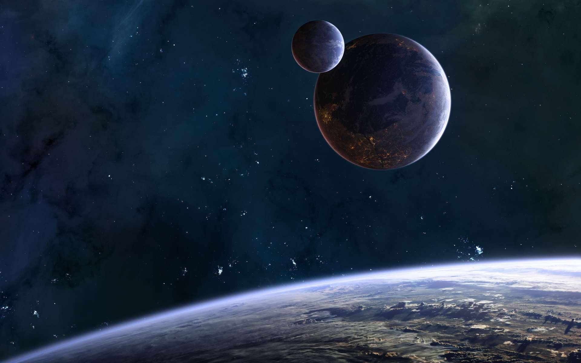 Les atmosphères des exoplanètes sont un mélange de différents gaz. © Aaron Alien, Adobe Stock