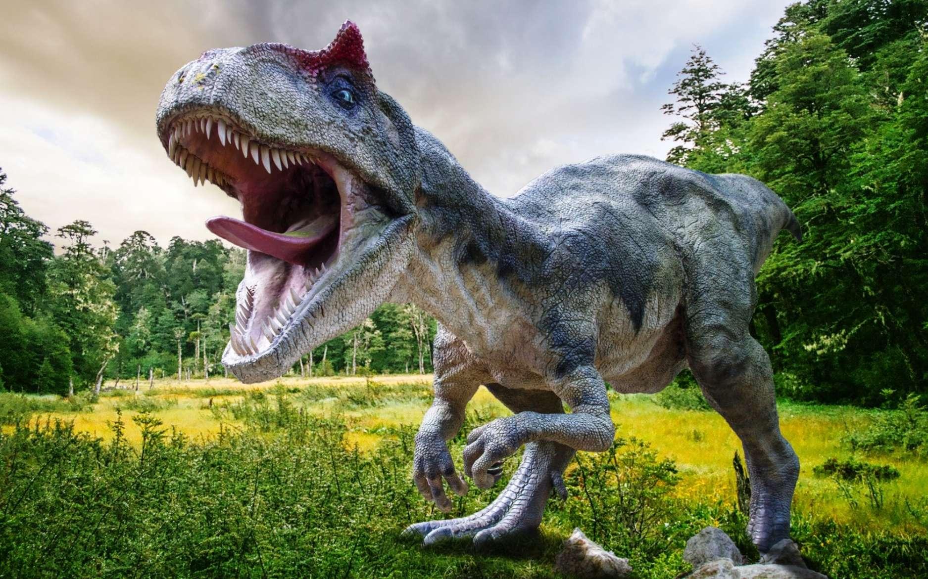 Une reconstitution d'artiste de l'aspect d'un dinosaure. Nous sommes encore loin de savoir quels sons ces animaux pouvaient émettre, bien que les oiseaux en soient les derniers représentants. © Lukas Uher, Shutterstock