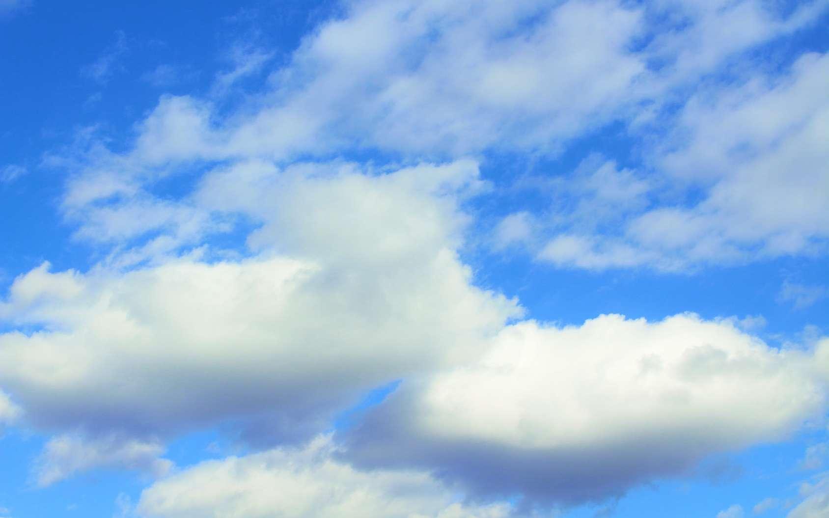 Les cumulus sont des nuages dont le haut blanc est illuminé par le Soleil. © far700, Fotolia