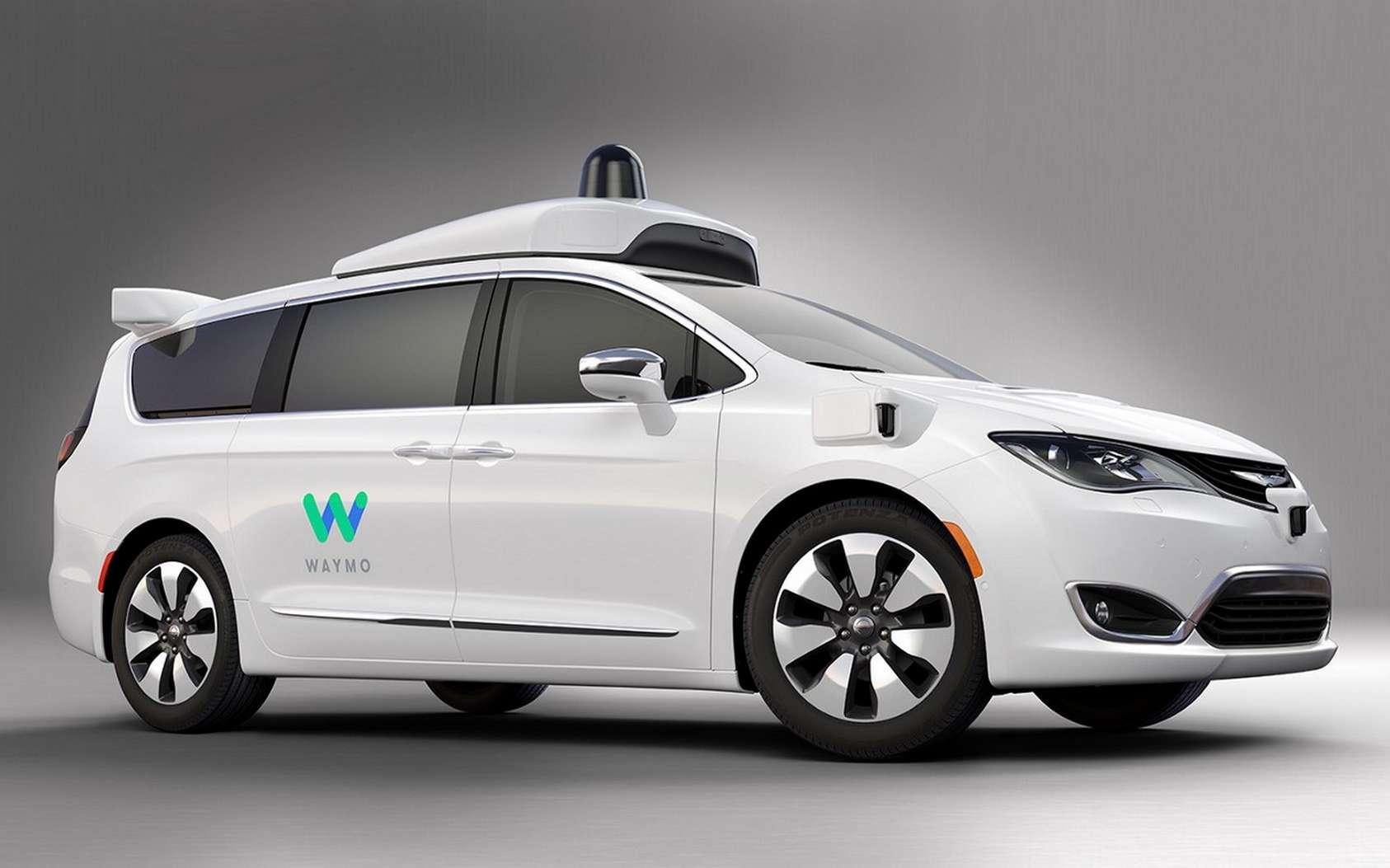 Le Chrysler Pacifica utilisé par le service de taxis autonome Waymo One. © Waymo