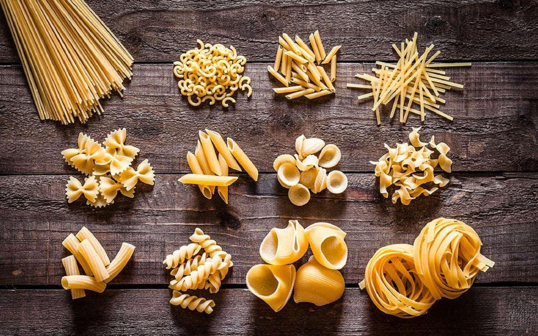 Sélection de pâtes sèches ; site Régal. © Photo : Istock.