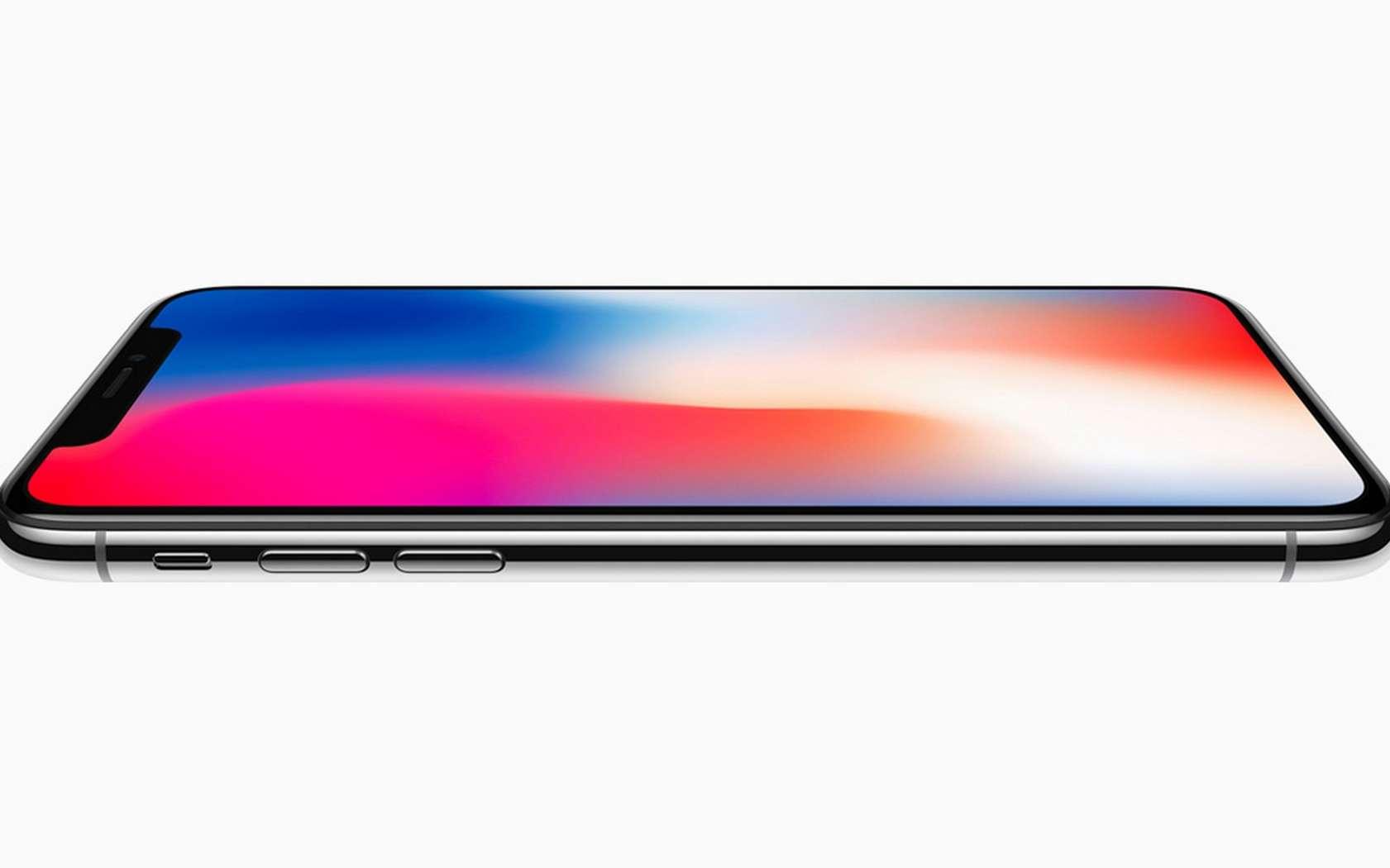 L'iPhone X ou « dix » inaugure un écran Oled 5,8 pouces bord à bord. © Apple