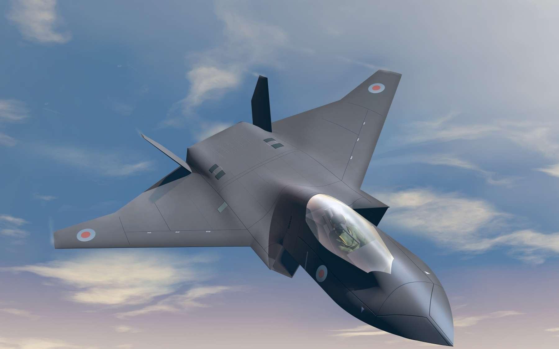 En juillet dernier, BEA Systems avait déjà présenté ce concept sur le Tempest, un prototype d'avion de chasse anglo-italien dévoilé lors du Salon international de l'aéronautique de Farnborough au Royaume-Uni. © BAE Systems
