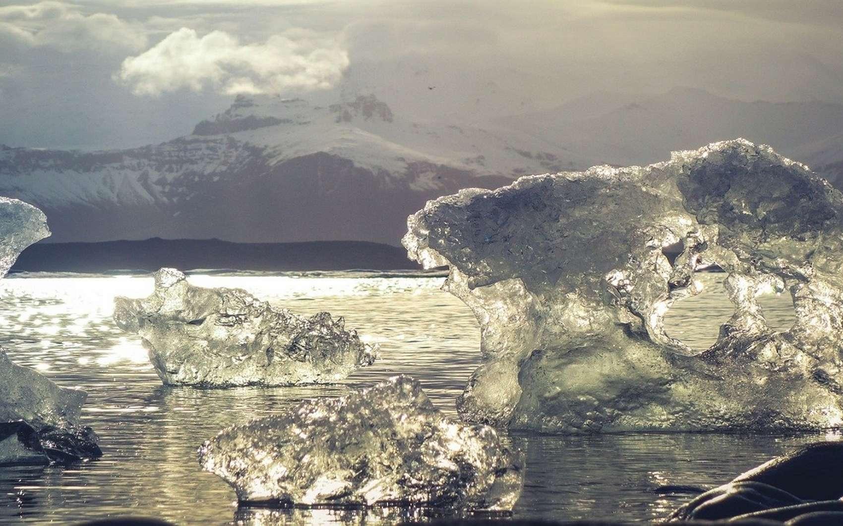 À l'inverse de l'Antarctique, l'Arctique n'est pas constitué de terre mais seulement d'eau conglelée. © Noel_bauza, Pixabay