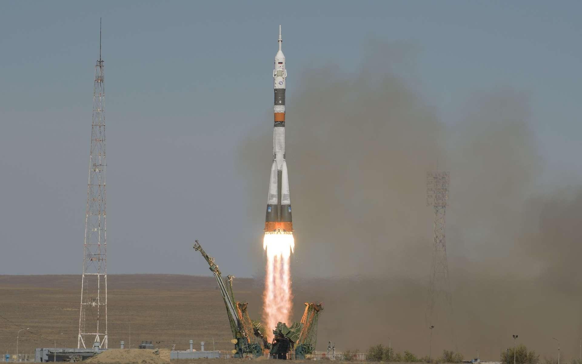 Soyouz partait du cosmodrome de Baïkonour, au Kazakhstan. © Bill Ingalls, NASA