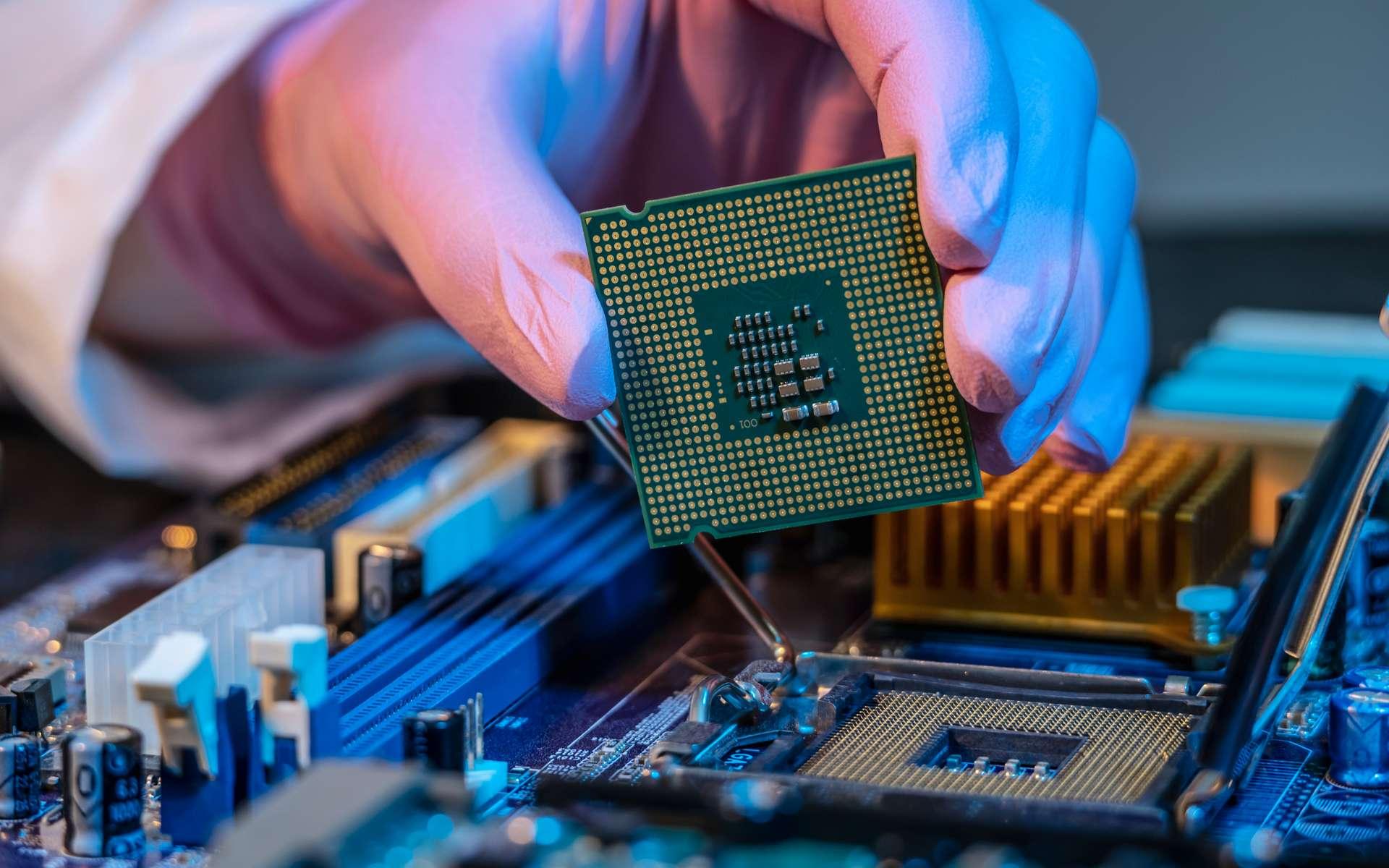 Le microprocesseur de Marcian Hoff et Federico Faggin a révolutionné l'informatique. © Yaca2671, CC BY-SA 3.0, Wikimedia Commons