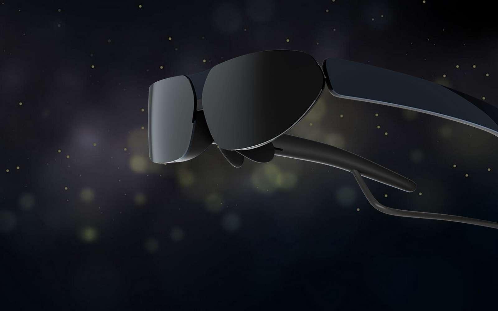 Les nouvelles lunettes connectées TCL Nxtwear G affichent le contenu d'un smartphone sur un écran virtuelle de 140 pouces. © TCL