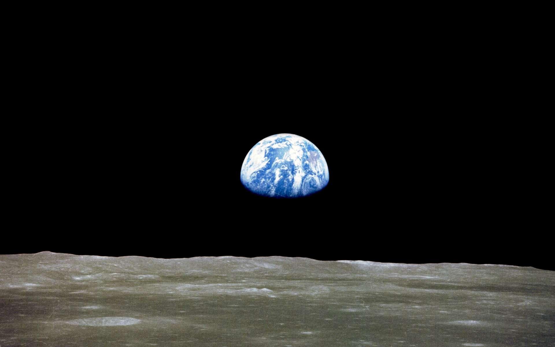 La Terre vue depuis Apollo 11. © Nasa