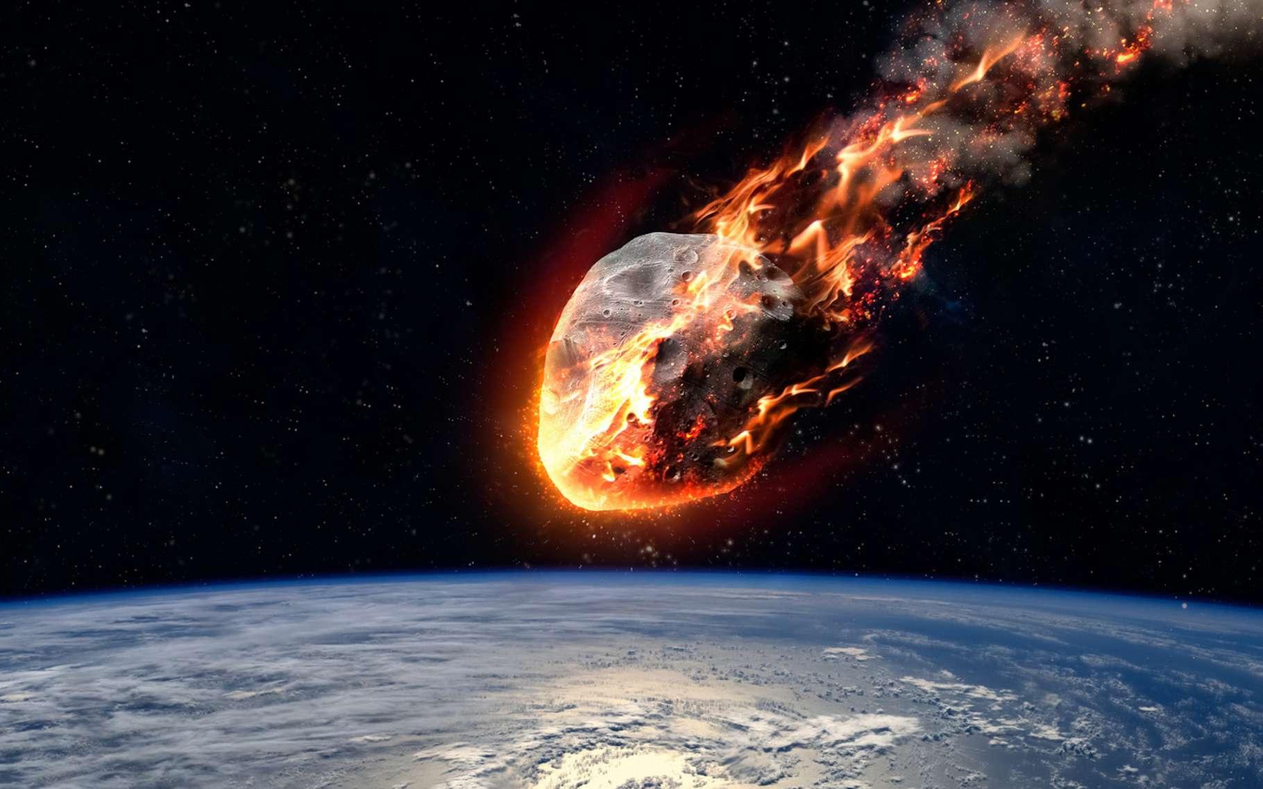 De l'iridium, comme celui qui est arrivé sur Terre avec l'astéroïde qui a tué les dinosaures, pourrait servir de parfait photosensibilisant pour les thérapies photodynamiques du futur et aider ainsi à vaincre des cancers aujourd'hui résistants. © Vadimsadovski, Fotolia