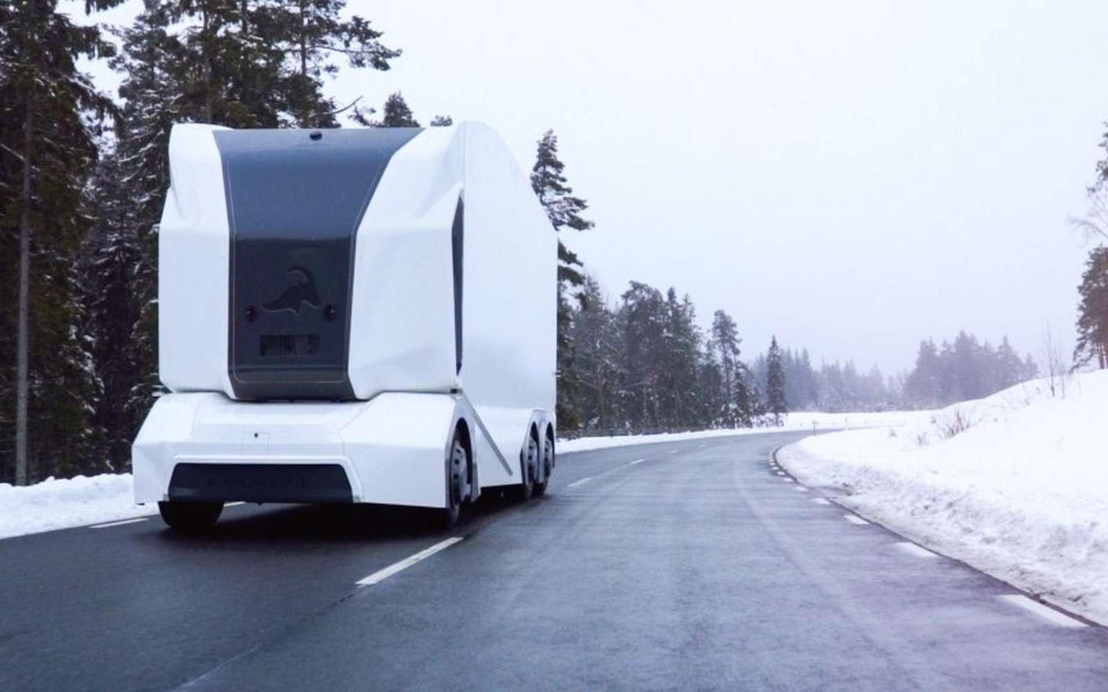 Le camion autonome T-pod, de la société suédoise Einride. © Einride