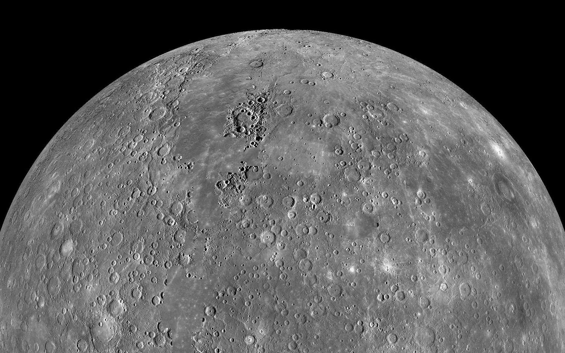 La planète Mercure a-t-elle toujours une activité tectonique ? © Nasa, image composite