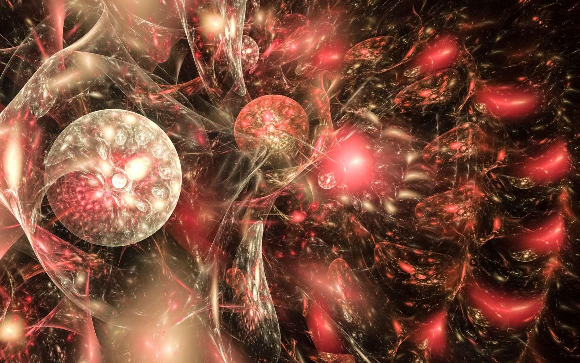 Une vue d'artiste de la théorie du multivers en cosmologie quantique. © Shutterstock, Bildagentur Zoonar GmbH