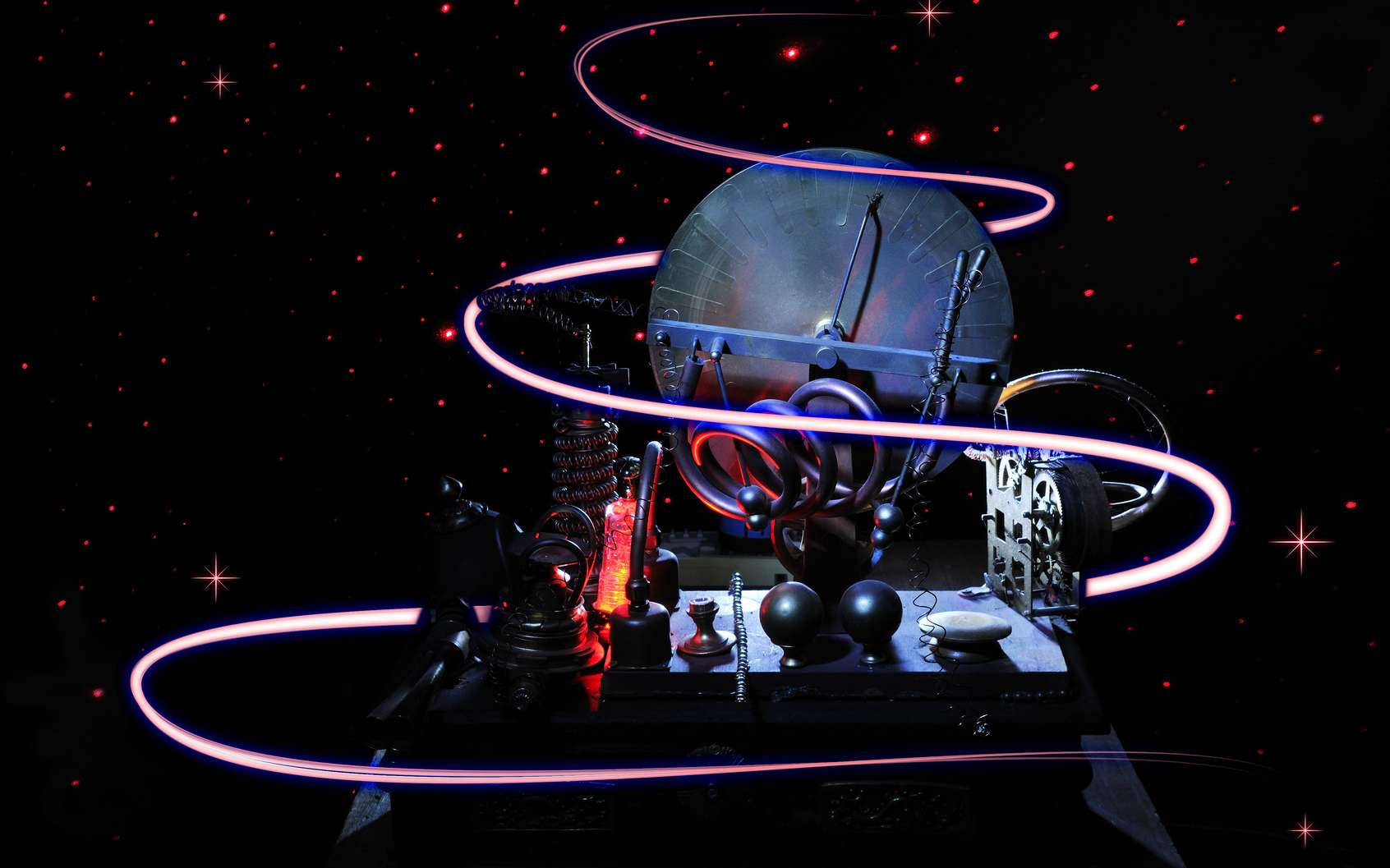 La machine inventée par le savant lui permettra de voyager dans le futur et de découvrir les créatures de l'an 802701. © Lijuan Guo, Fotolia