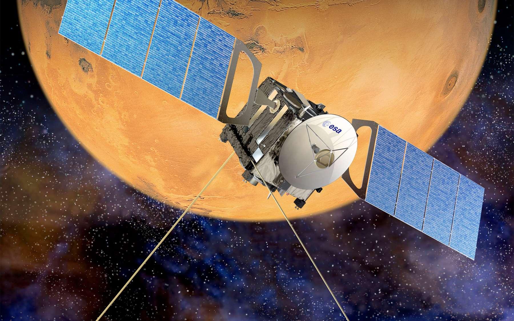 Lancée en 2003, la sonde Mars Express de l'Agence spatiale européenne a réalisé, le 26 janvier 2010, sa 7.777e révolution autour de la Planète rouge. Normalement, elle devrait fonctionner jusqu'en décembre 2014. © Esa/D. Ducros