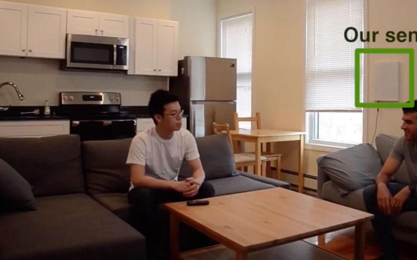 Le boîtier Emerald du MIT peut surveiller l'état de santé des patients sans contact. © MIT