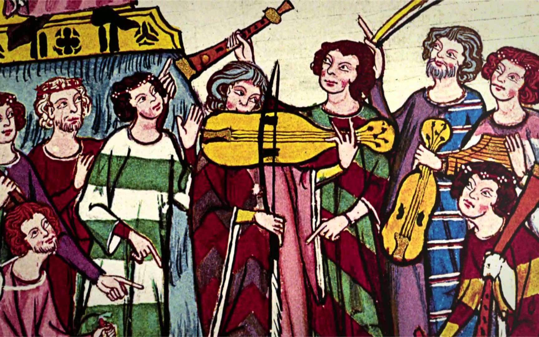 Les troubadours du Moyen Âge étaient aussi bien poètes que musiciens. Image extraite de la vidéo Troubadours, trouvères et jongleurs. © Éditions Ouest-France