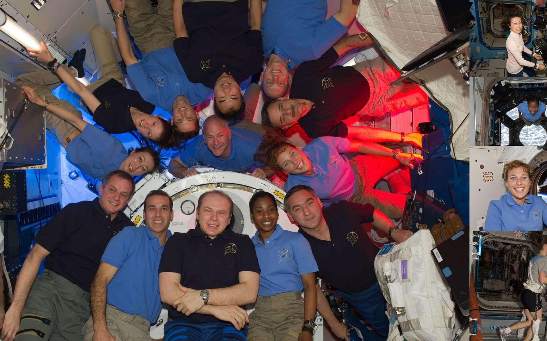 Cette mission aura permis de rassembler quatre astronautes féminins à bord de la Station spatiale. Un record ! Les trois femmes de STS-131 ont rejoint Tracy Caldwell Dyson (Nasa), d'Expedition 23. Crédit Nasa