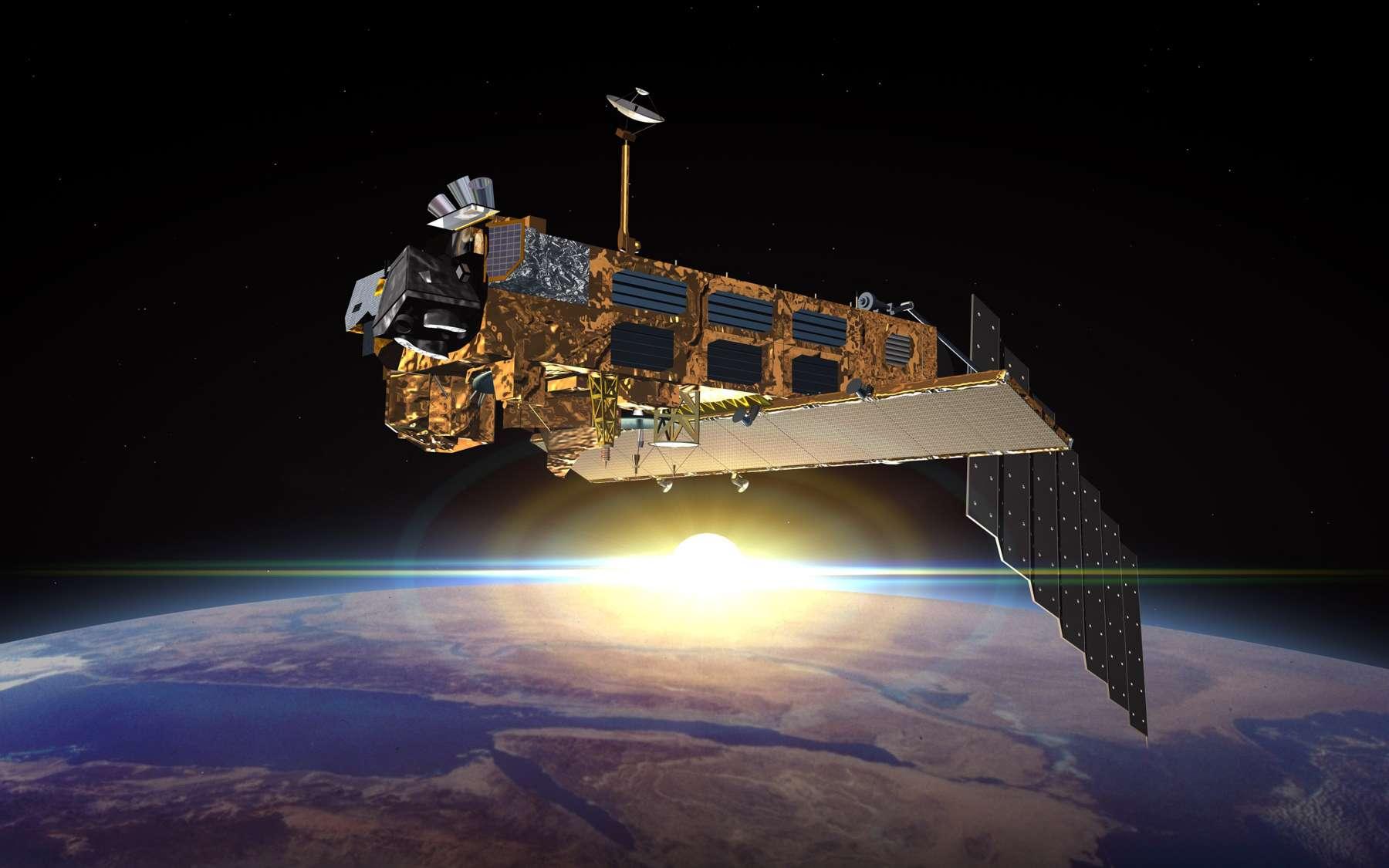 Avant de devenir un débris spatial, Envisat a été un formidable satellite d'observation de la Terre pour le compte de l'Esa. Les dix instruments embarqués ont fourni des informations de premier plan aux scientifiques, mais aussi à de nombreux prestataires de service dans plusieurs domaines de la recherche climatique et environnementale. Seul regret : Envisat n'a pas réussi à passer le relais aux satellites Sentinel qui lui succéderont à partir de 2014. © Esa, Denman Productions